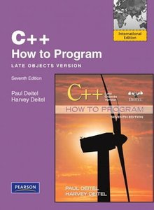 C++ How to Program : Late Objects Version, 7/e (IE-Paperback)