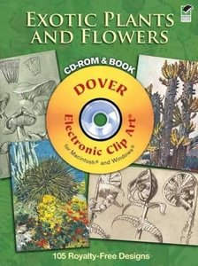 Exotic Plants and Flowers CD-ROM and Book (Paperback)