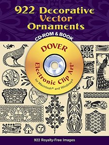 922 Decorative Vector Ornaments CD-ROM and Book (Paperback)
