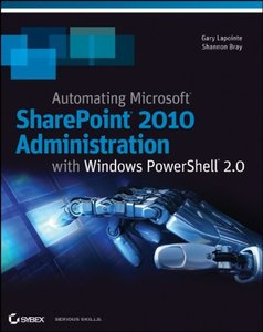 Automating SharePoint 2010 with Windows PowerShell 2.0 (Paperback)-cover