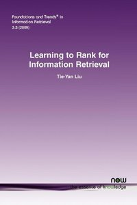 Learning to Rank for Information Retrieval (Paperback)-cover