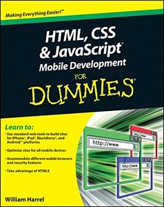 HTML, CSS, and JavaScript Mobile Development For Dummies (Paperback)-cover