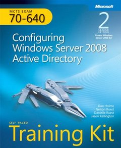 MCTS Self-Paced Training Kit (Exam 70-640) : Configuring Windows Server 2008 Active Directory, 2/e (Paperback)-cover