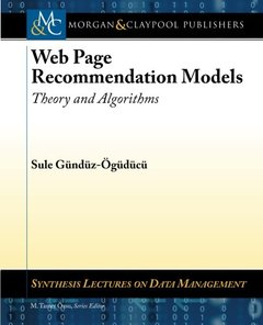 Web Page Recommendation Models: Theory and Algorithms (Synthesis Lectures on Data Management)-cover