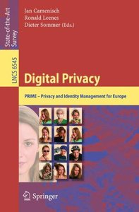 Digital Privacy: PRIME - Privacy and Identity Management for Europe (Paperback)-cover