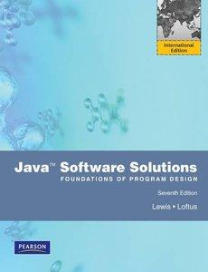 Java Software Solutions Foundations of Program Design, 7/e (IE-Paperback)-cover
