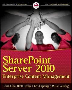 SharePoint Server 2010 Enterprise Content Management (Paperback)-cover