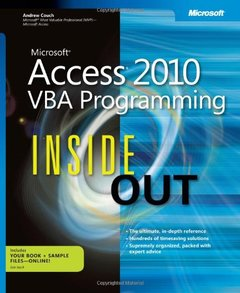 Microsoft Access 2010 VBA Programming Inside Out (Paperback)-cover