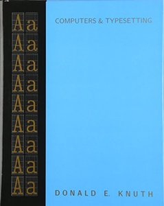 Computers & Typesetting, Volume A: The TeXbook (Hardcover)-cover