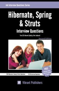 Hibernate, Spring & Struts Interview Questions You'll Most Likely Be Asked (Paperback)-cover