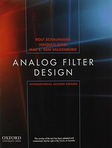 Analog Filter Design, 2/e (IE-Paperback)-cover