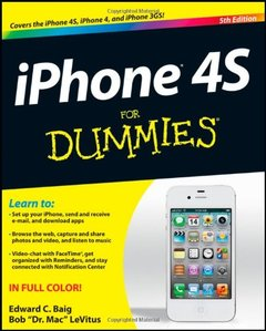 iPhone 4S For Dummies, 5/e (Paperback)-cover
