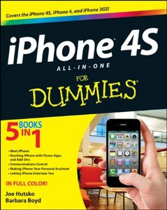 iPhone 4S All-in-One For Dummies (Paperback)-cover