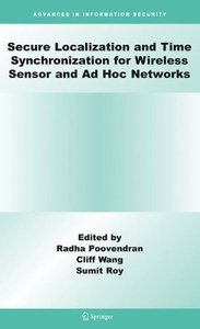 Secure Localization and Time Synchronization for Wireless Sensor and Ad Hoc Networks (Hardcover)-cover