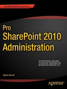 Pro SharePoint 2010 Administration (Paperback)-cover