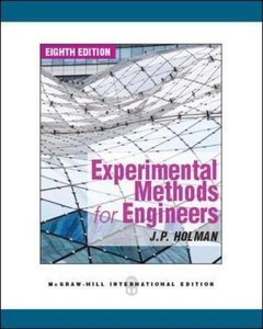Experimental Methods for Engineers, 8/e (IE-Paperback)