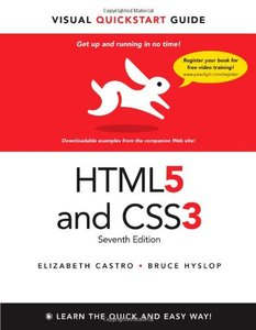 HTML5 & CSS3 Visual QuickStart Guide, 7/e (Paperback)-cover