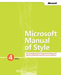 Microsoft Manual of Style (Revised) (4TH ed.)-cover