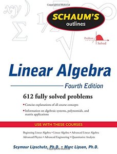 Schaum's Outline of Linear Algebra, 4/e (Paperback)-cover