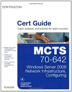 MCTS 70-642 Cert Guide: Windows Server 2008 Network Infrastructure, Configuring (Hardcover)-cover