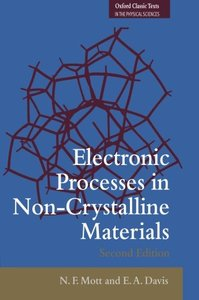 Electronic Processes in Non-Crystalline Materials (Paperback)-cover