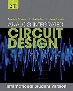 Analog Integrated Circuit Design, 2/e (IE-Paperback)-cover