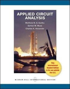 Applied Circuit Analysis (IE-Paperback)-cover