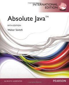 Absolute Java, 5/e (IE-Paperback)-cover