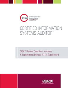 CISA Review Questions, Answers & Explanations Manual 2012 Supplement (Perfect Paperback)-cover
