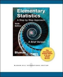 Elementary Statistics: A Step by Step Approach, 6/e (IE-Paperback)-cover
