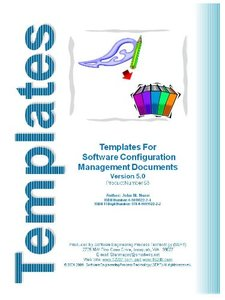 Templates for Software Configuration Management (CD-ROM)-cover