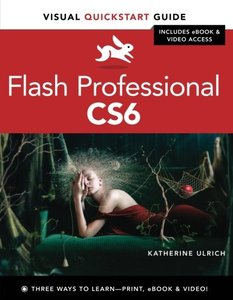 Flash Professional CS6: Visual QuickStart Guide (Paperback)-cover