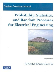 Student Solutions Manual for Probability, Statistics, and Random Processes For Electrical Engineering, 3/e (Paperback)-cover