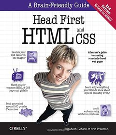 Head First HTML and CSS, 2/e (Paperback)-cover