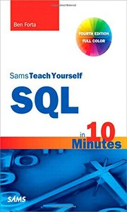 Sams Teach Yourself SQL in 10 Minutes, 4/e (Paperback)-cover
