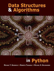 Data Structures and Algorithms in Python (Hardcover)-cover