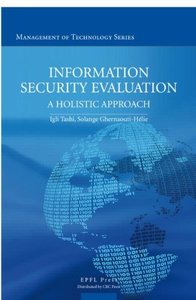 Information Security Evaluation: A Holistic Approach from a Business Perspective (Hardcover)-cover