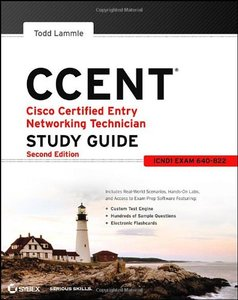 CCENT Cisco Certified Entry Networking Technician Study Guide: (ICND1 Exam 640-822), 2/e (Paperback)-cover