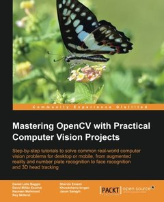 Mastering OpenCV with Practical Computer Vision Projects (Paperback)-cover
