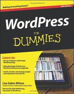 WordPress For Dummies, 5/e (Paperback)-cover