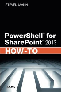 PowerShell for SharePoint 2013 How-To (Paperback)-cover