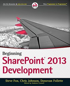 Beginning SharePoint 2013 Development (Paperback)-cover