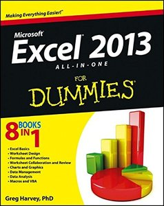 Excel 2013 All-in-One For Dummies (Paperback)-cover