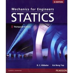 Mechanics for Engineers Statics, 13/e (SI Edition)-cover