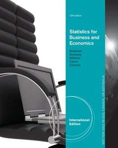 Statistics for Business and Economics, 12/e (IE-Paperback)-cover