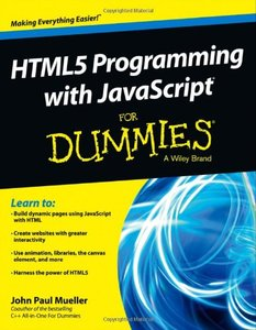 HTML5 Programming with JavaScript For Dummies (Paperback)-cover