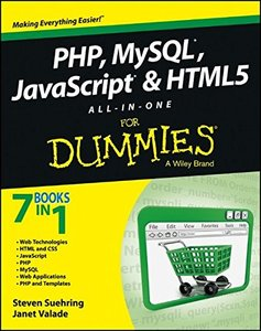 PHP, MySQL, JavaScript & HTML5 All-in-One For Dummies (Paperback)-cover