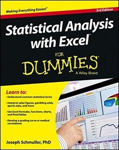 Statistical Analysis with Excel For Dummies, 3/e (Paperback)-cover