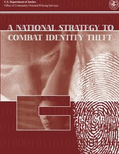 A National Strategy to Combat Identity Theft (Paperback)-cover