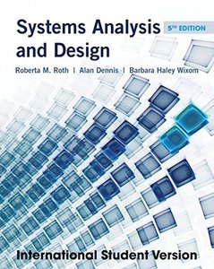 Systems Analysis and Design, 5/e (IE-Paperback)-cover